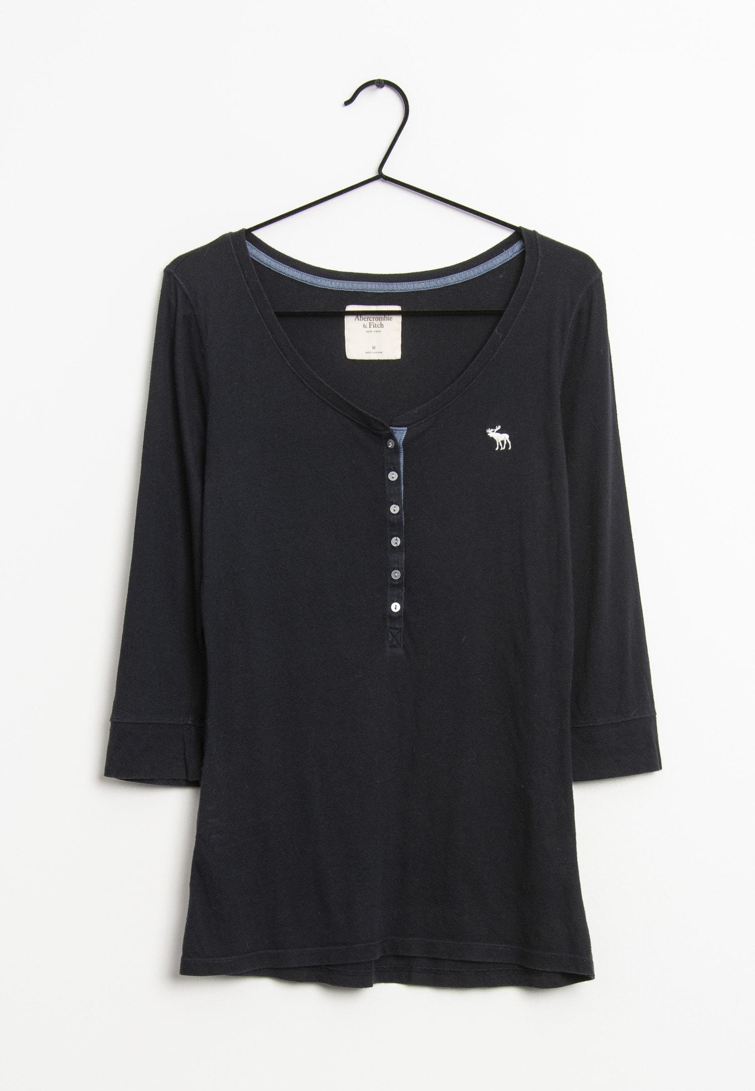 Abercrombie & Fitch Langarmshirt Blau Gr.M