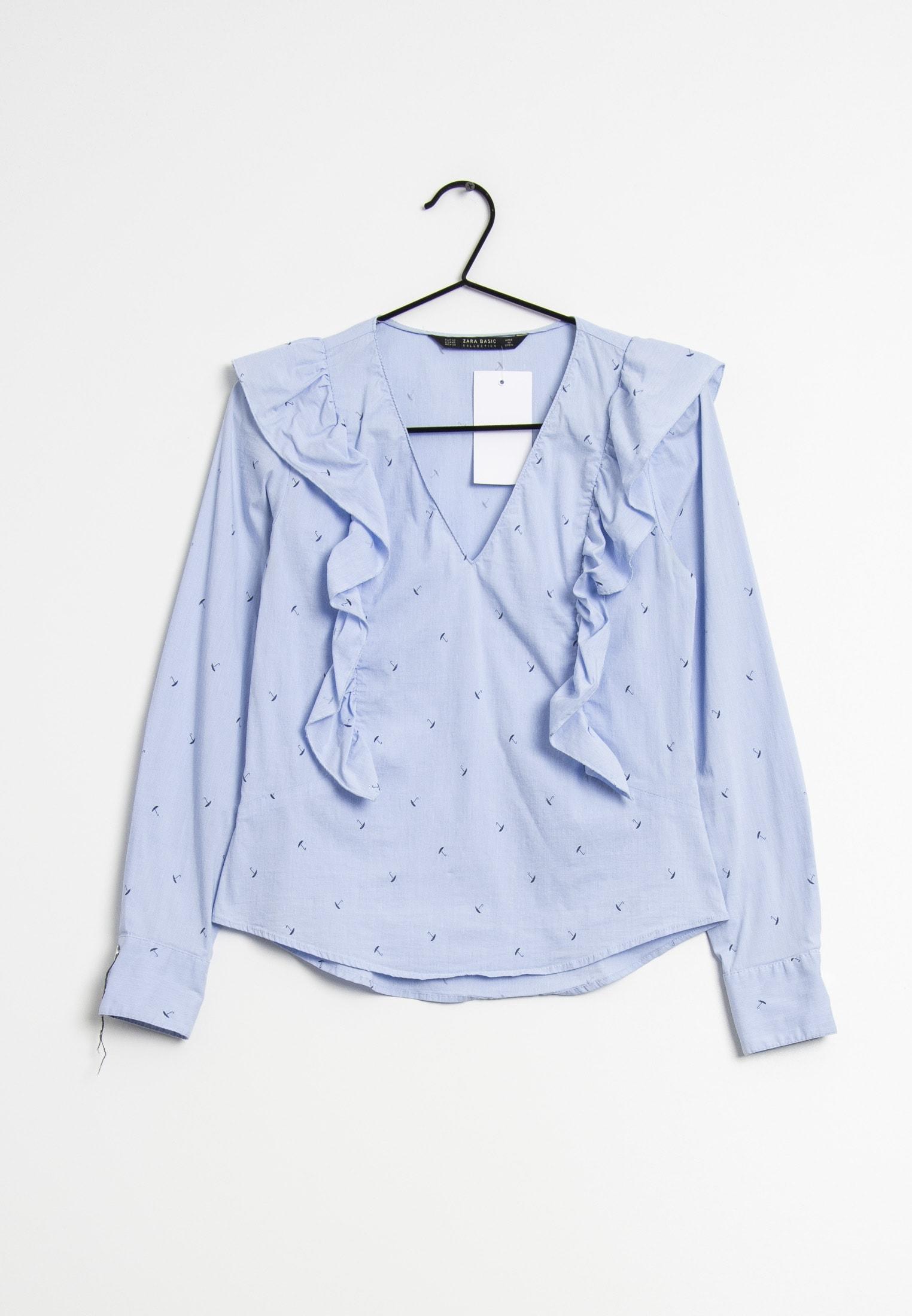 Zara Bluse Blau Gr.XS