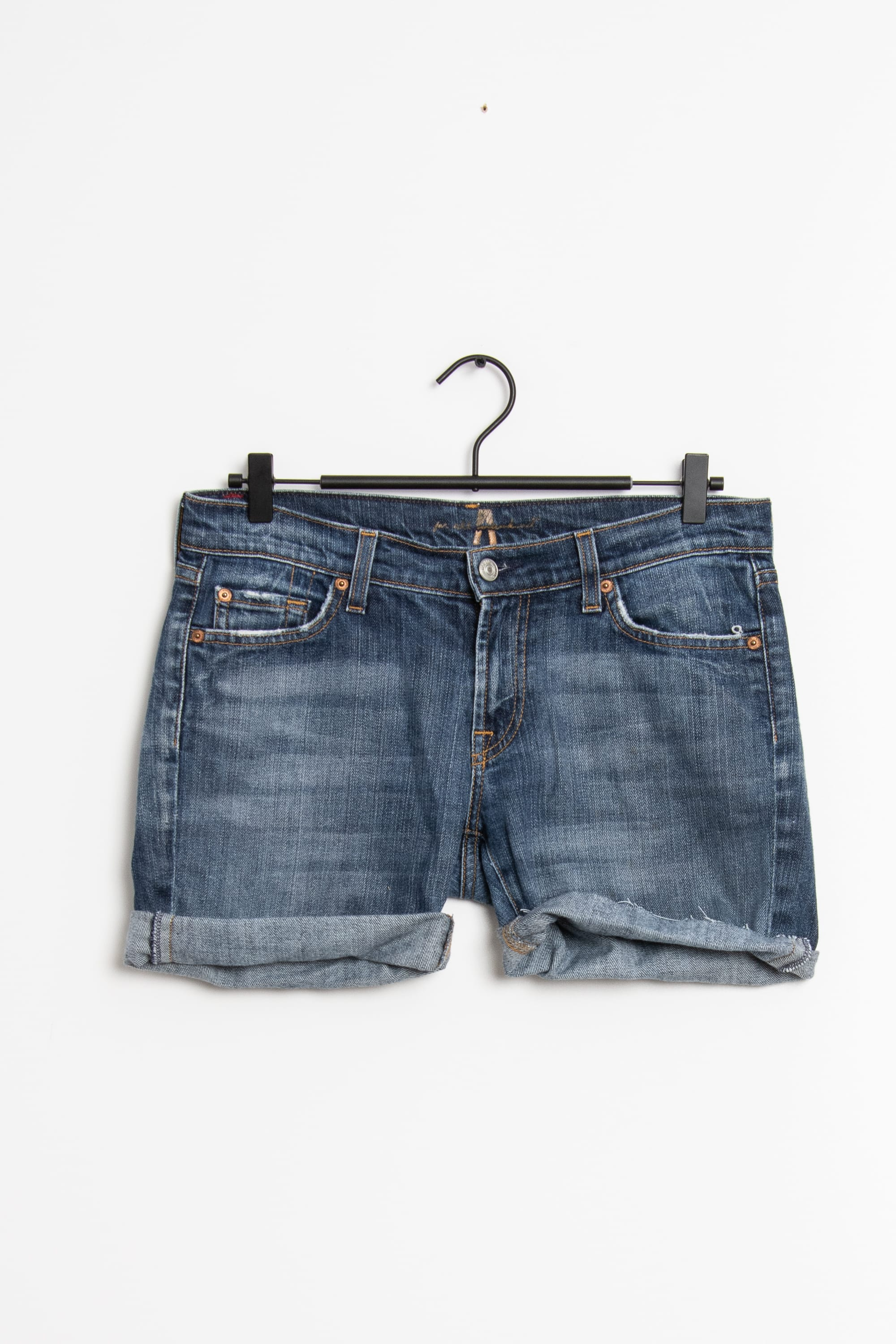 7 for all mankind Shorts Blau Gr.M