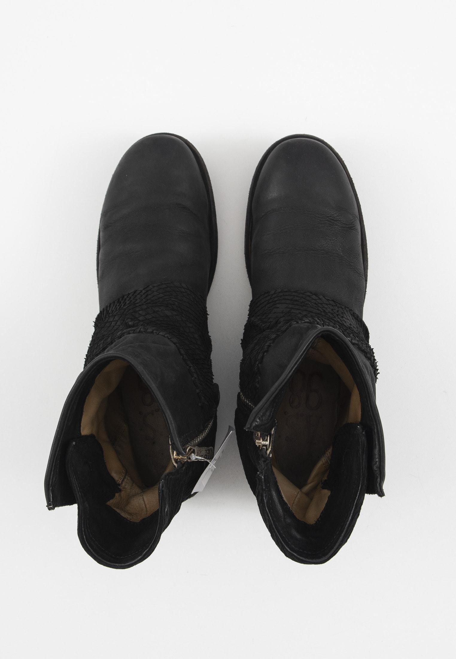 A.S.98 Stiefel / Stiefelette / Boots Schwarz Gr.41