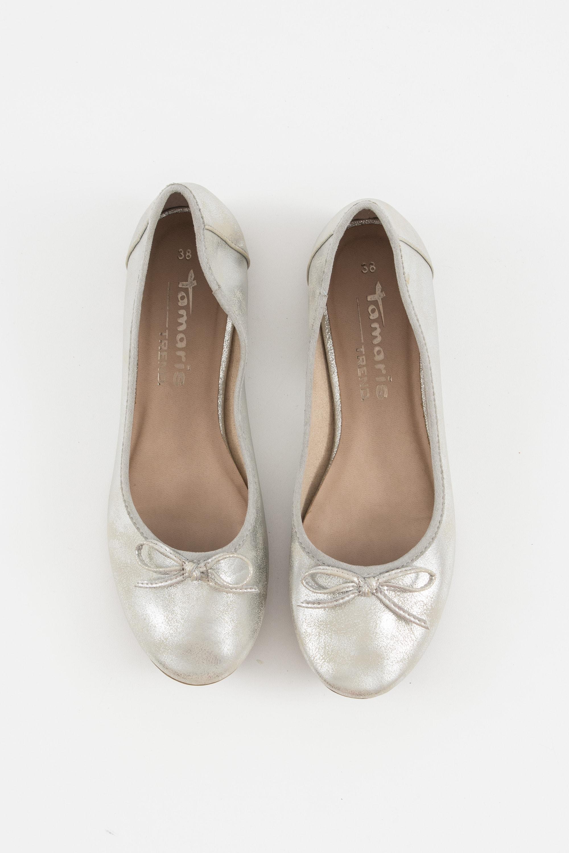 Tamaris Halbschuh / Ballerina Grau Gr.38