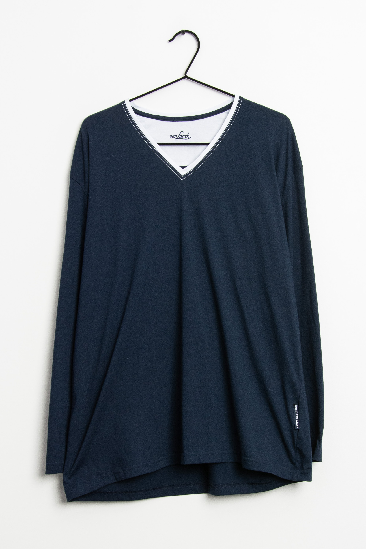 van Laack Langarmshirt Blau Gr.XL
