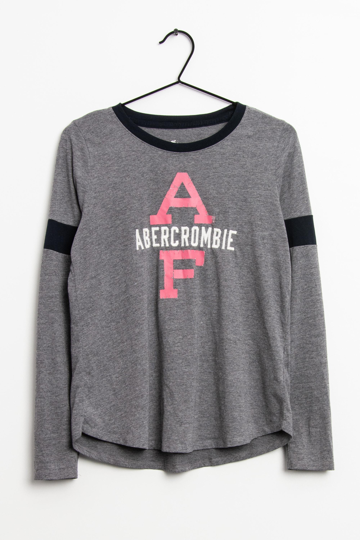 Abercrombie & Fitch Langarmshirt Grau Gr.M