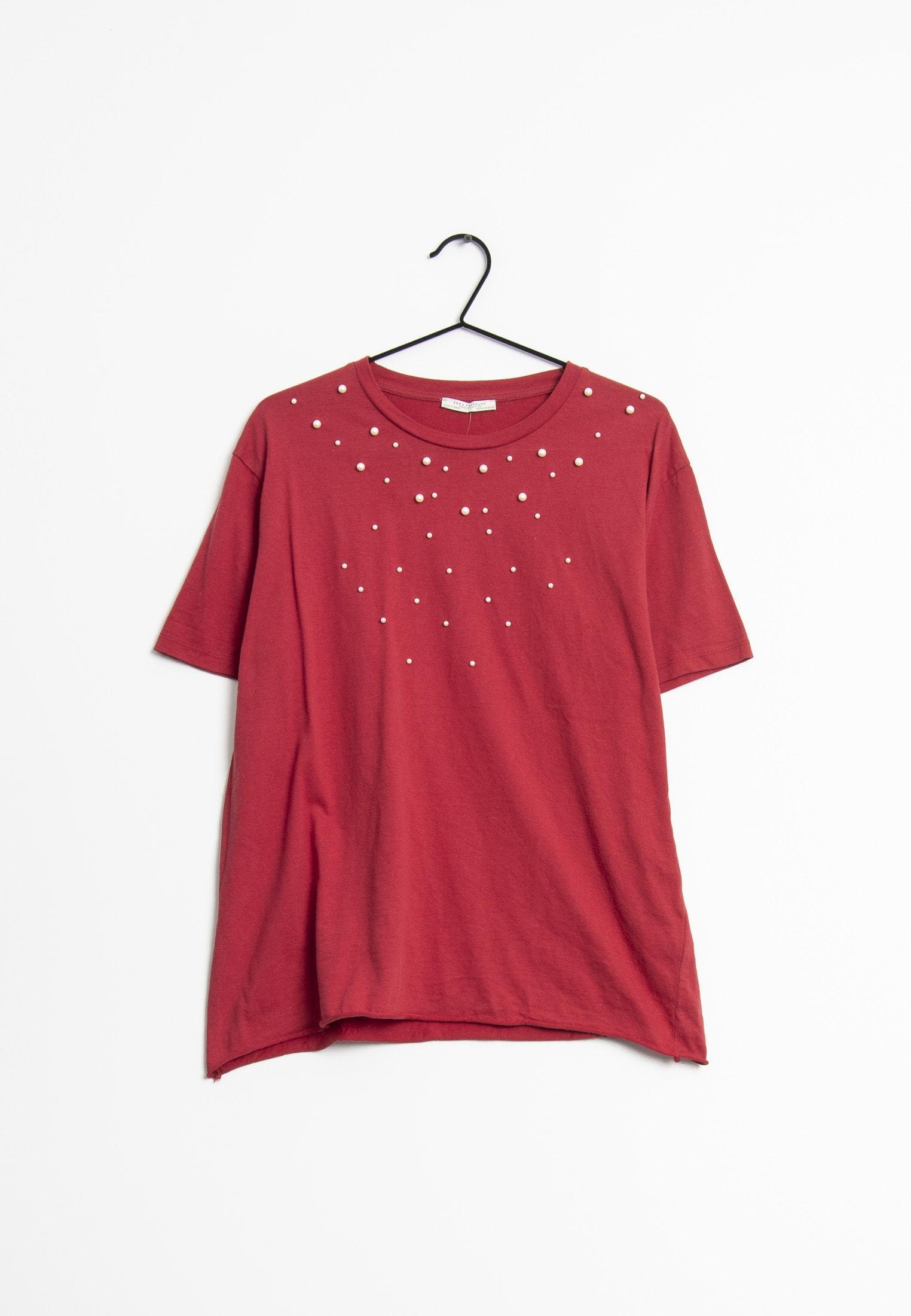 Zara T-Shirt Rot Gr.M