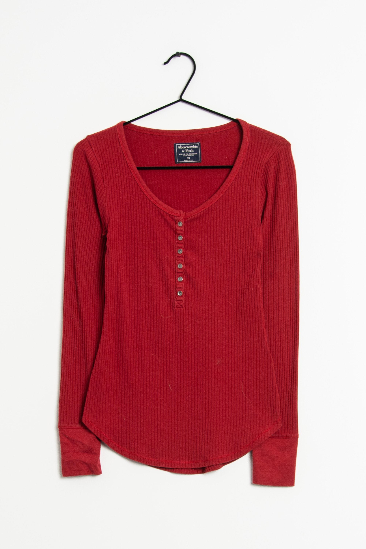 Abercrombie & Fitch Langarmshirt Rot Gr.XS