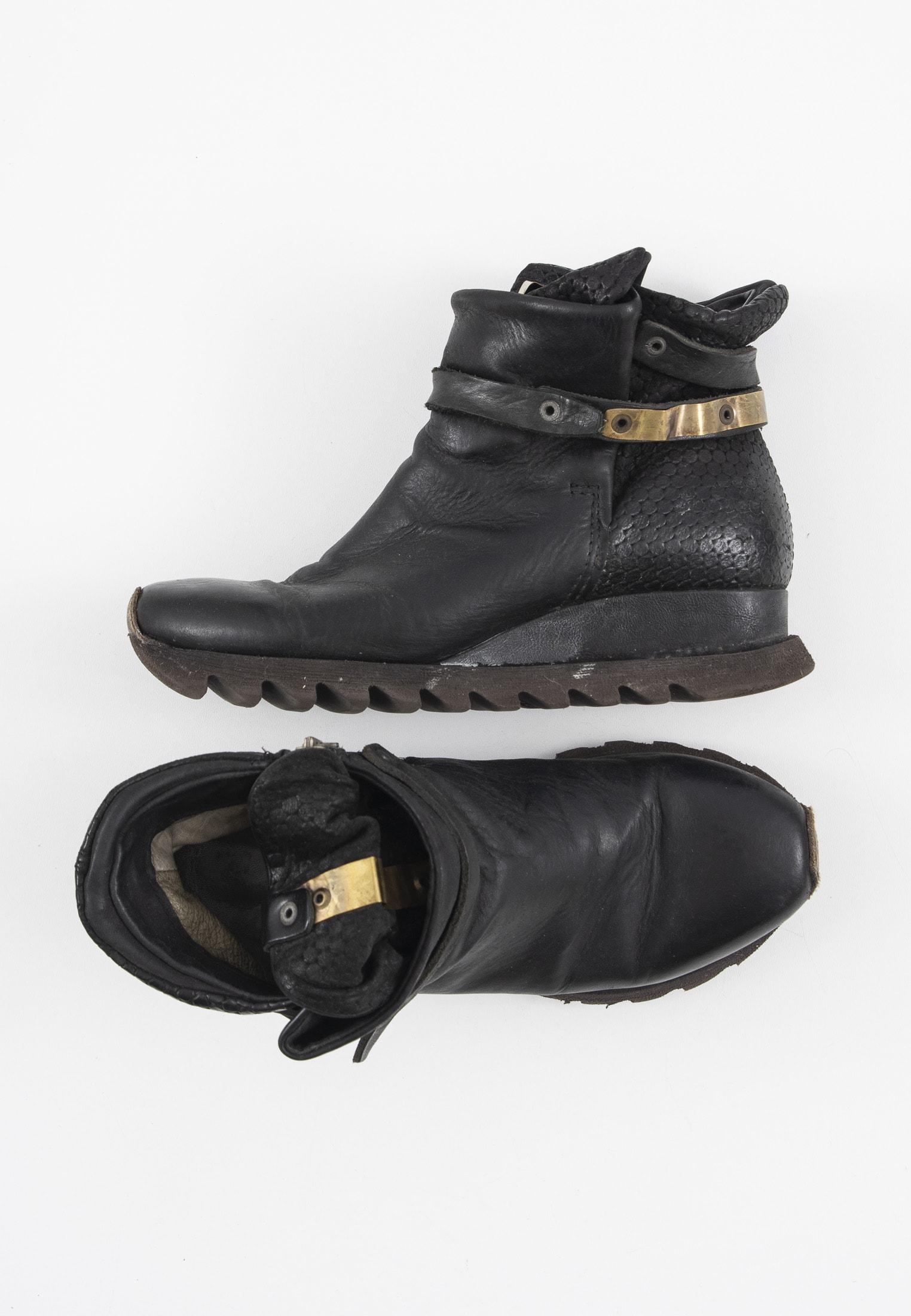 A.S.98 Stiefel / Stiefelette / Boots Schwarz Gr.38