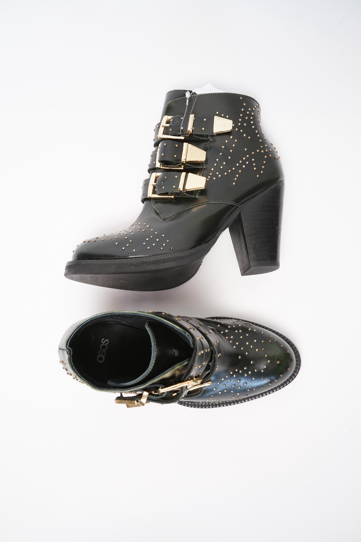 Asos Stiefel / Stiefelette / Boots Grün Gr.38