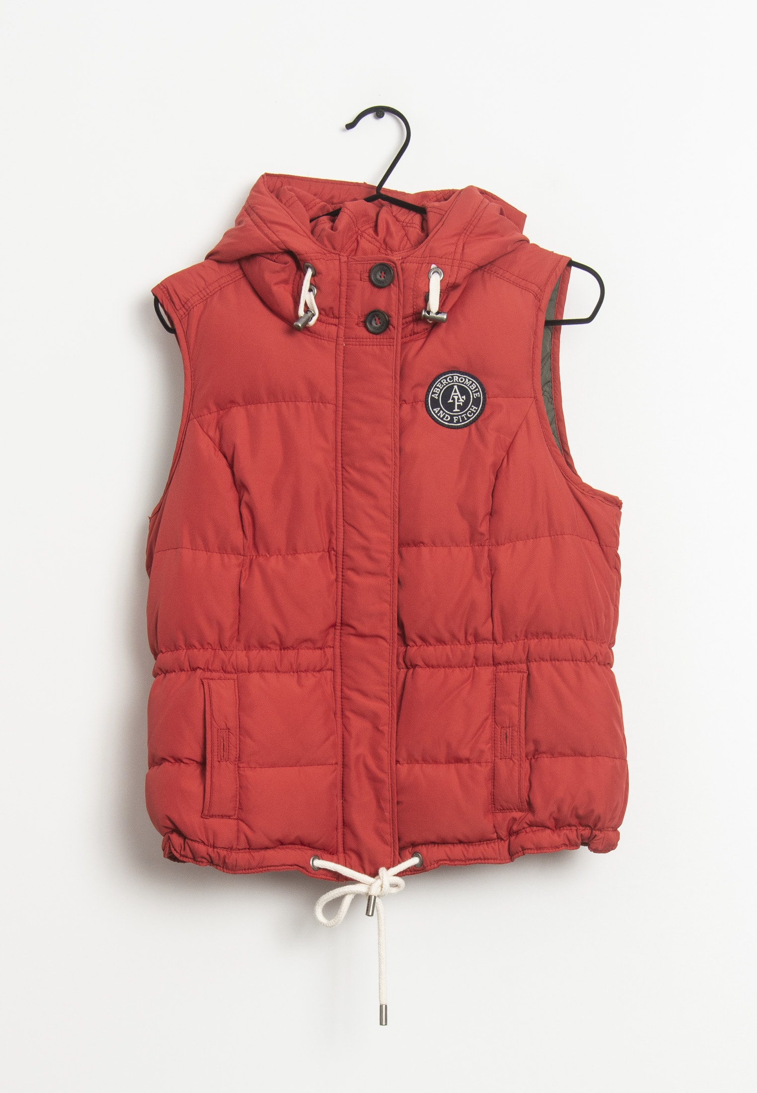 Abercrombie & Fitch Weste Rot Gr.M