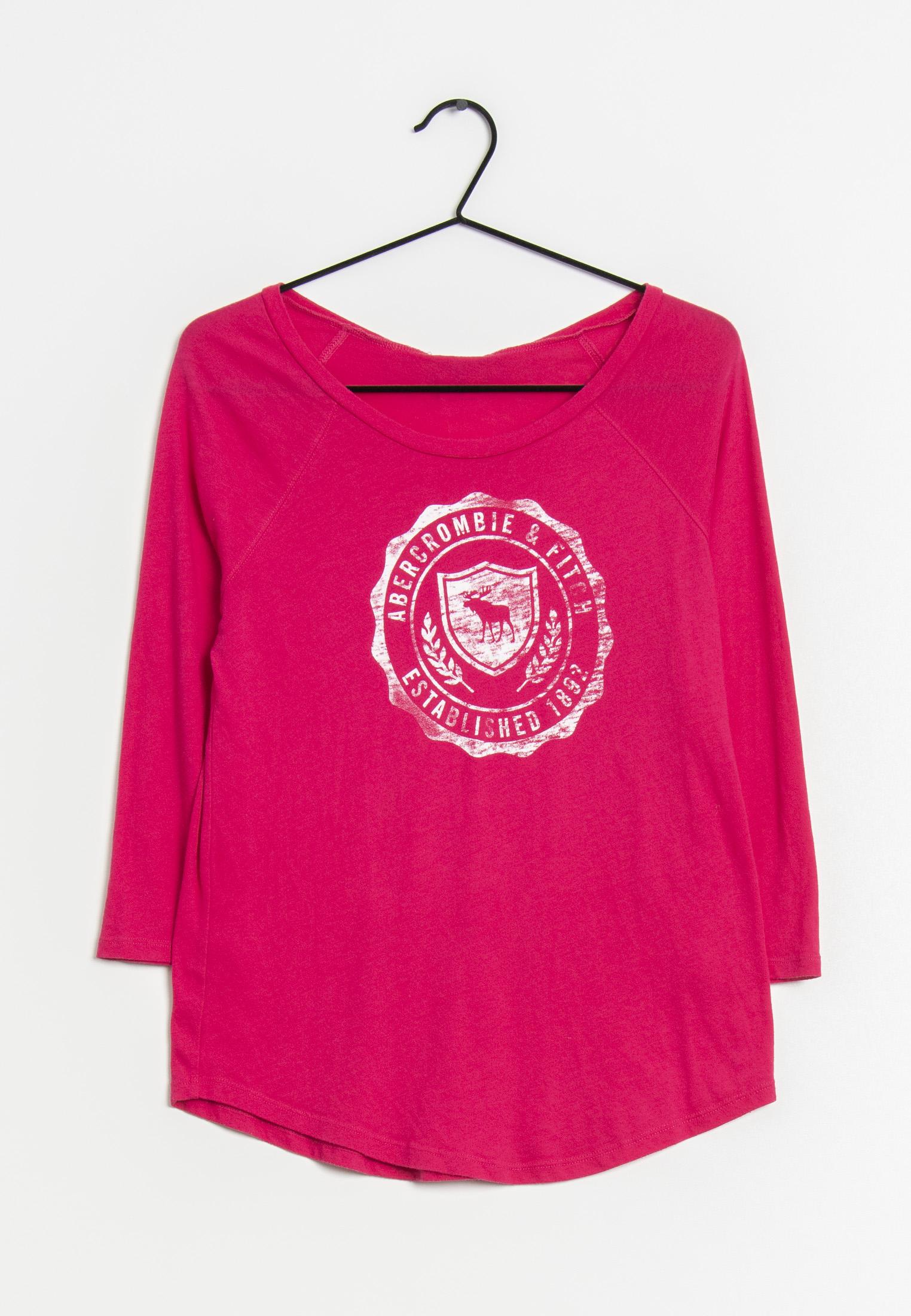 Abercrombie & Fitch Langarmshirt Pink Gr.S