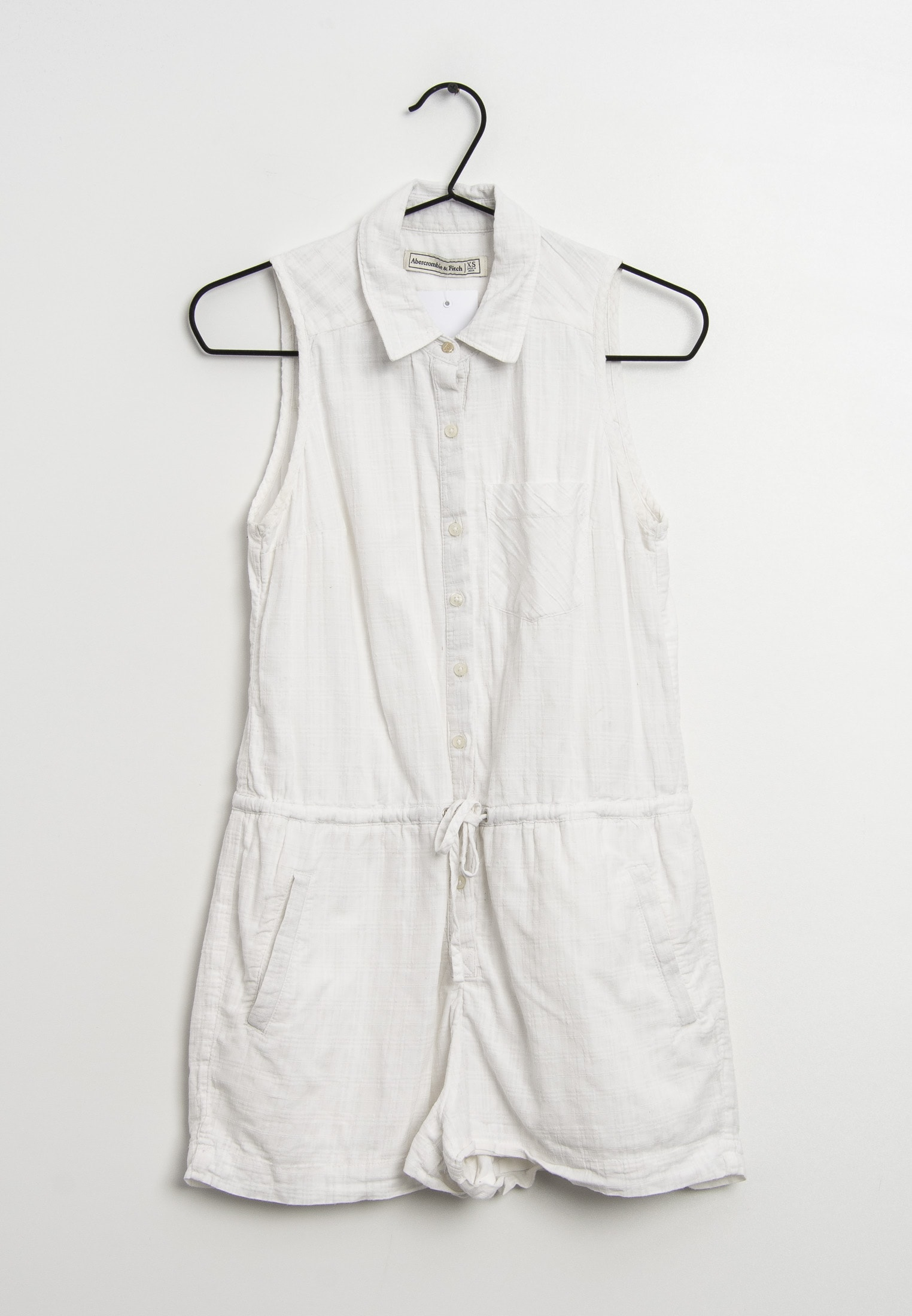 Abercrombie & Fitch Jumpsuit / Overall Weiß Gr.XS