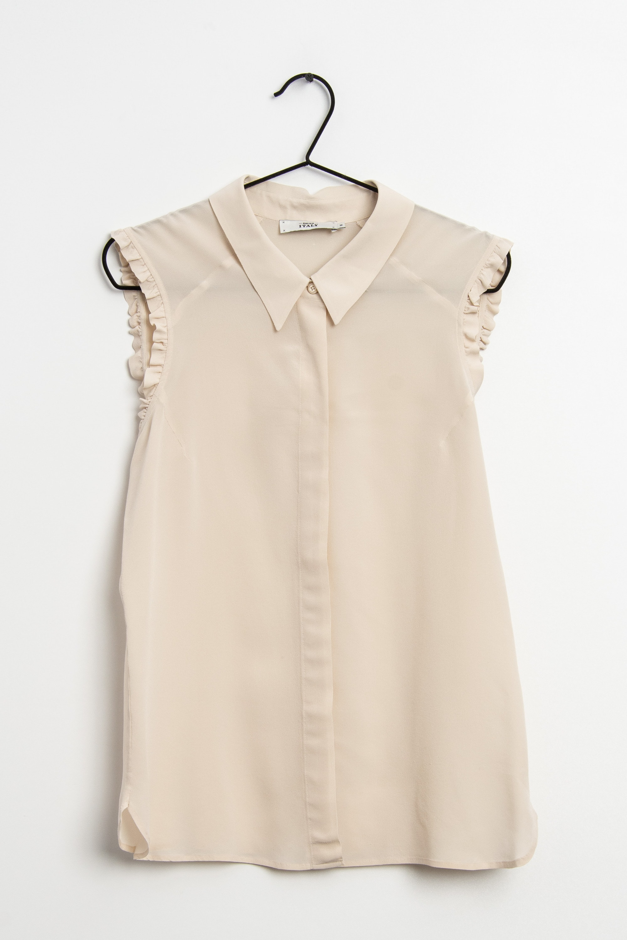 0039 Italy Bluse Beige Gr.M