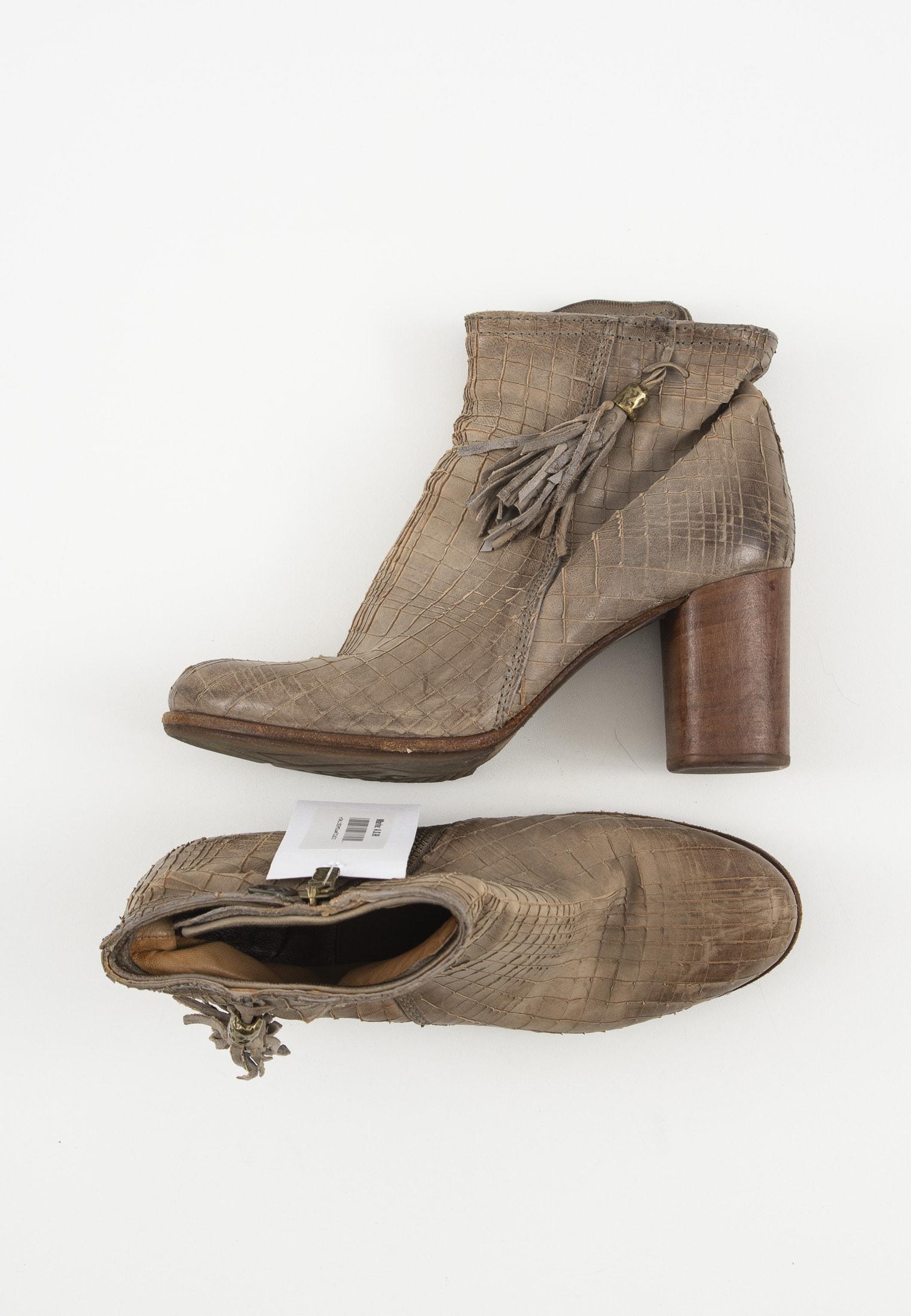 A.S.98 Stiefel / Stiefelette / Boots Beige Gr.42