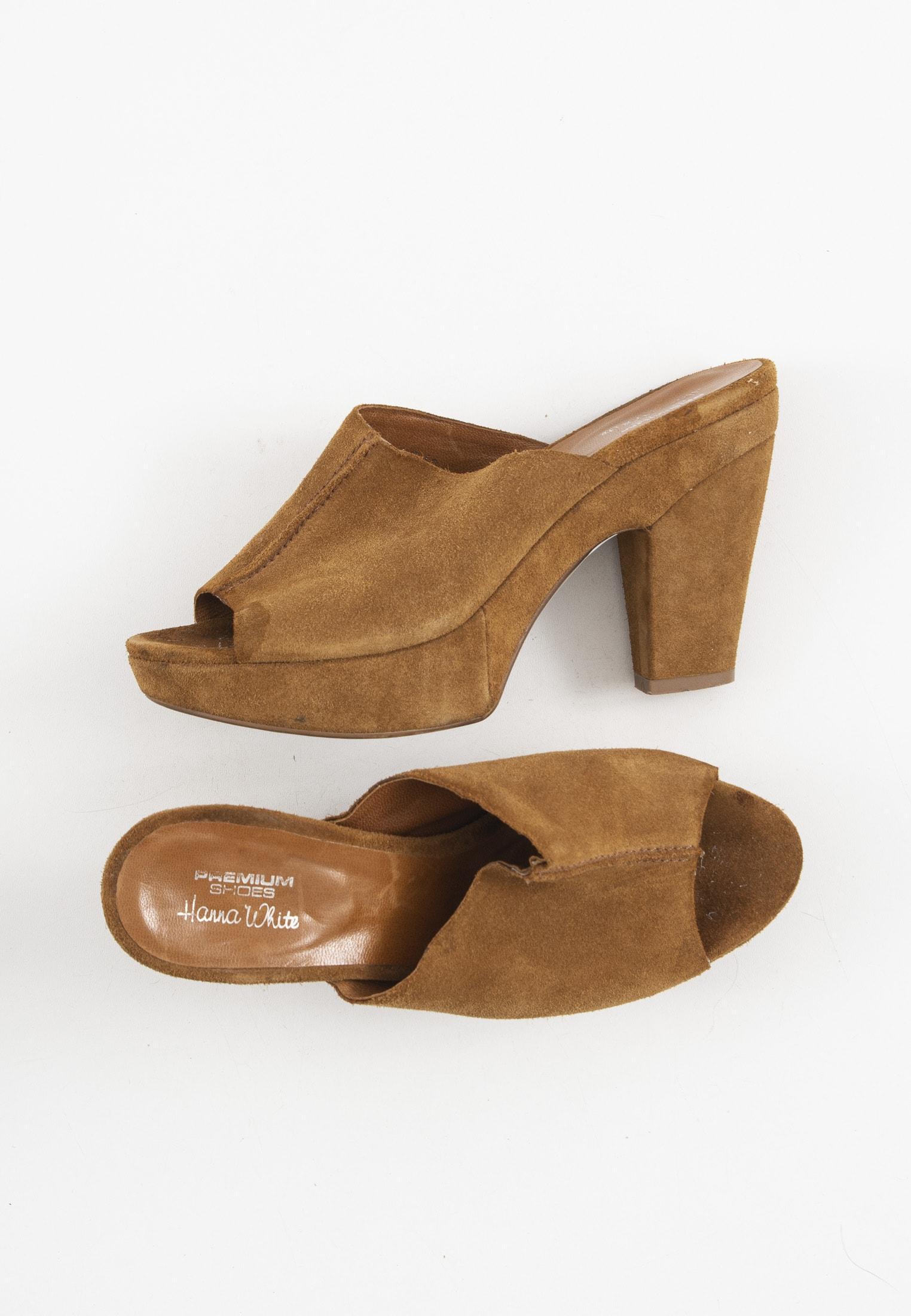 Premium Shoes Sandale Beige Gr.38