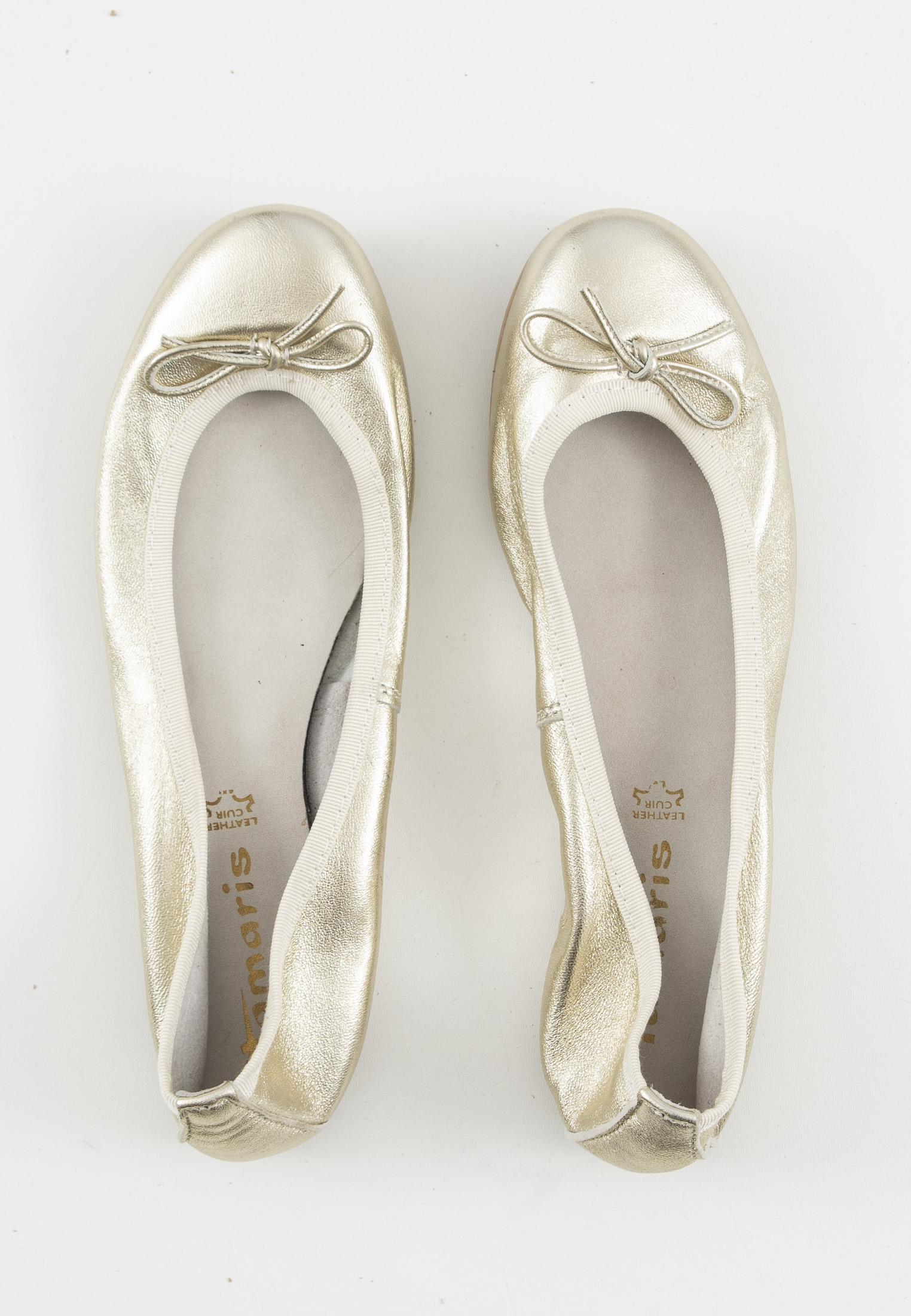 Tamaris Halbschuh / Ballerina Beige Gr.38