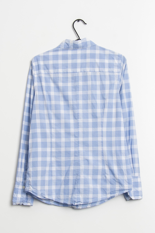0039 Italy Bluse Blau Gr.M