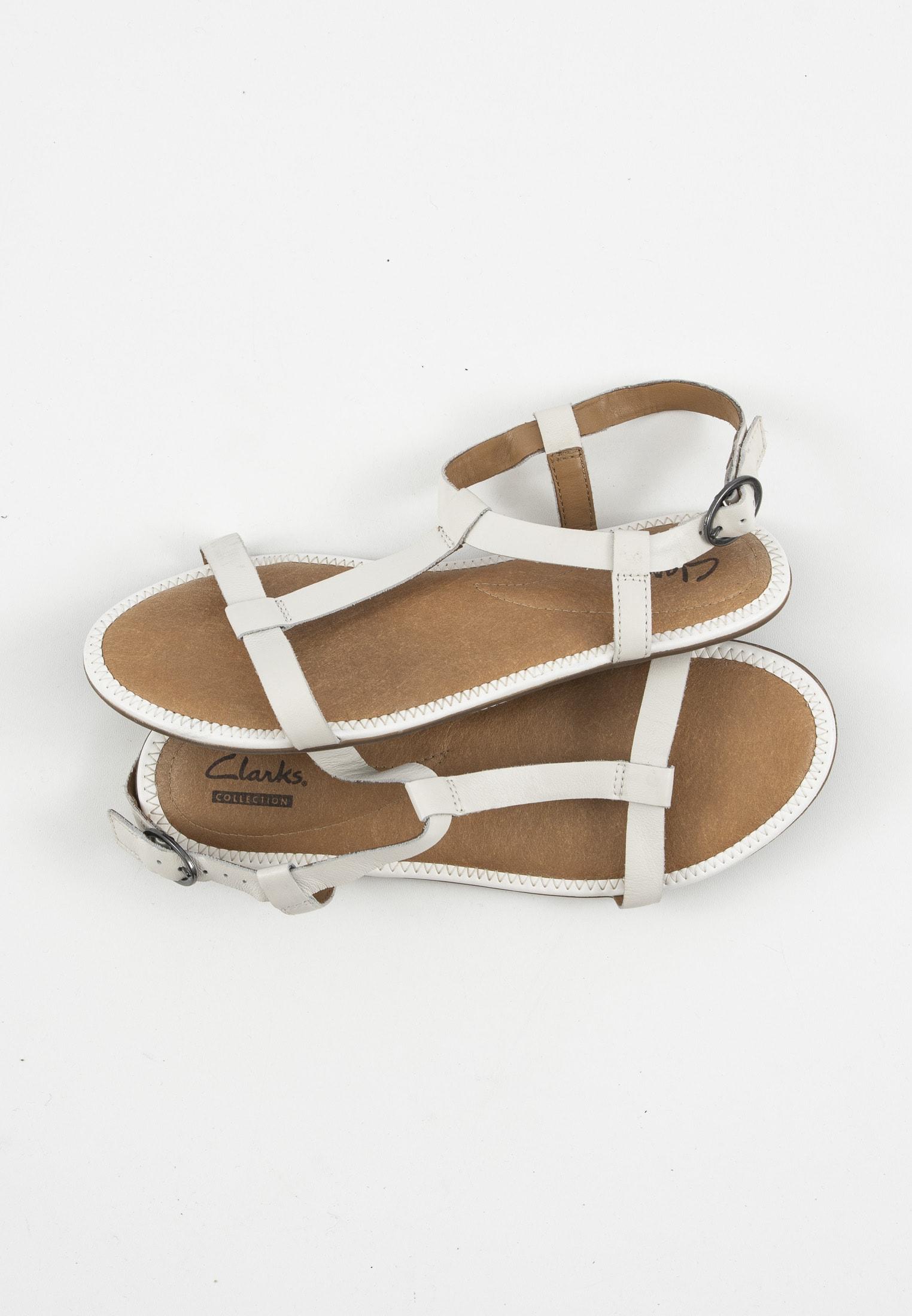 Clarks Sandale Weiß Gr.39
