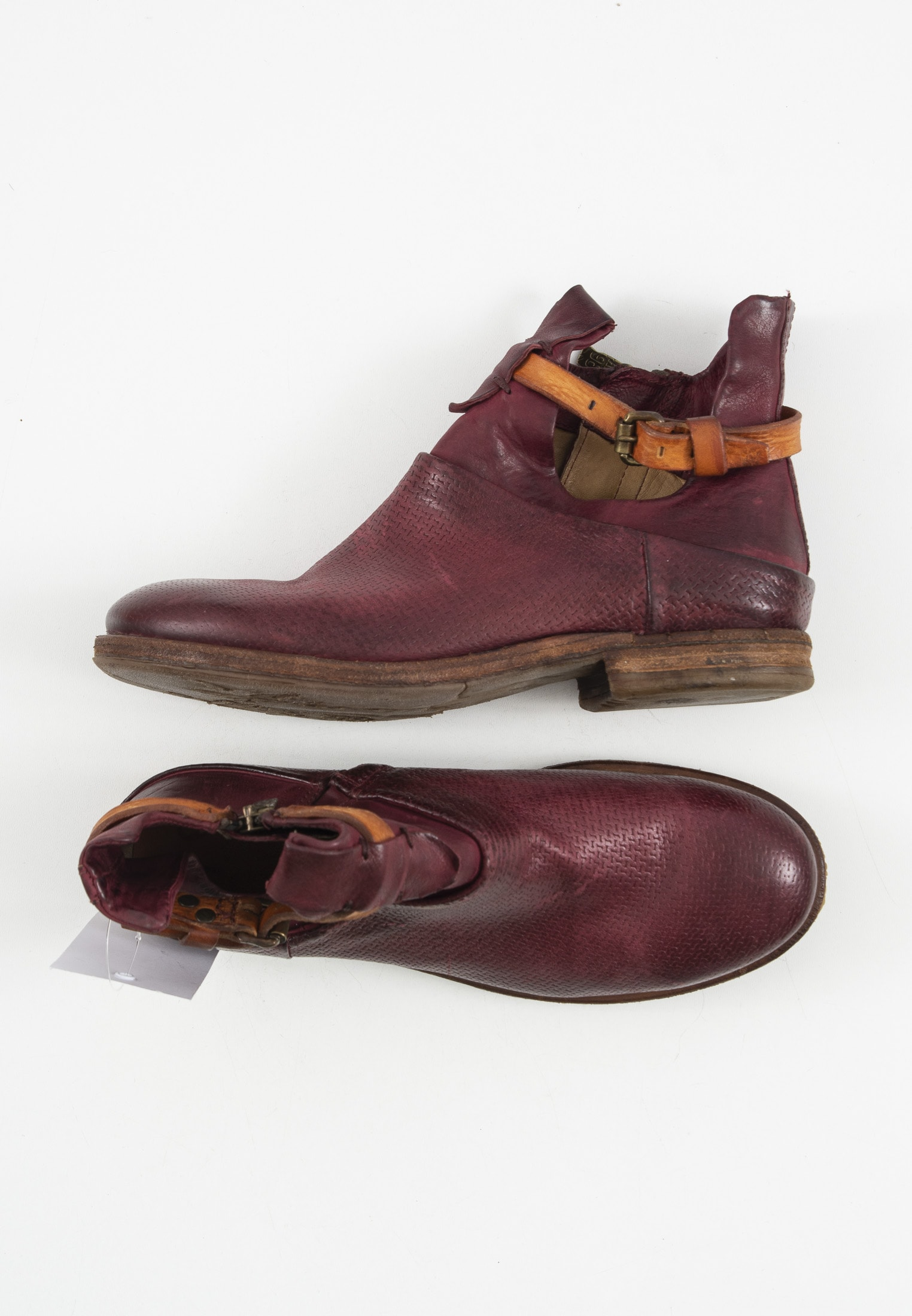 A.S.98 Stiefel / Stiefelette / Boots Lila Gr.38