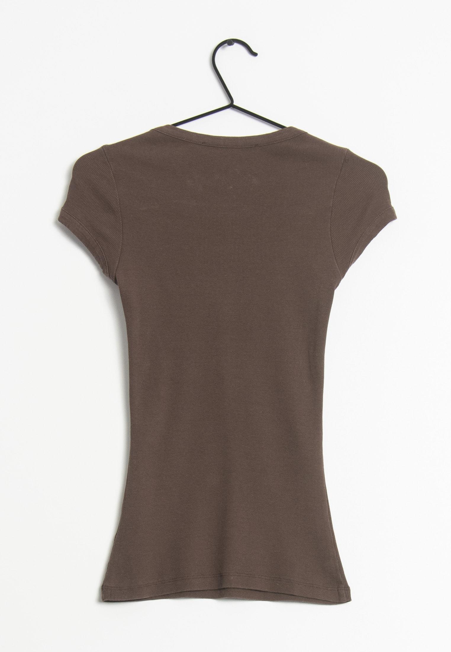 HALLHUBER T-Shirt Braun Gr.XS