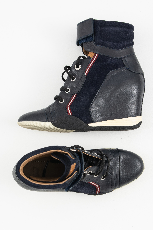 Bally Stiefel / Stiefelette / Boots Blau Gr.36.5