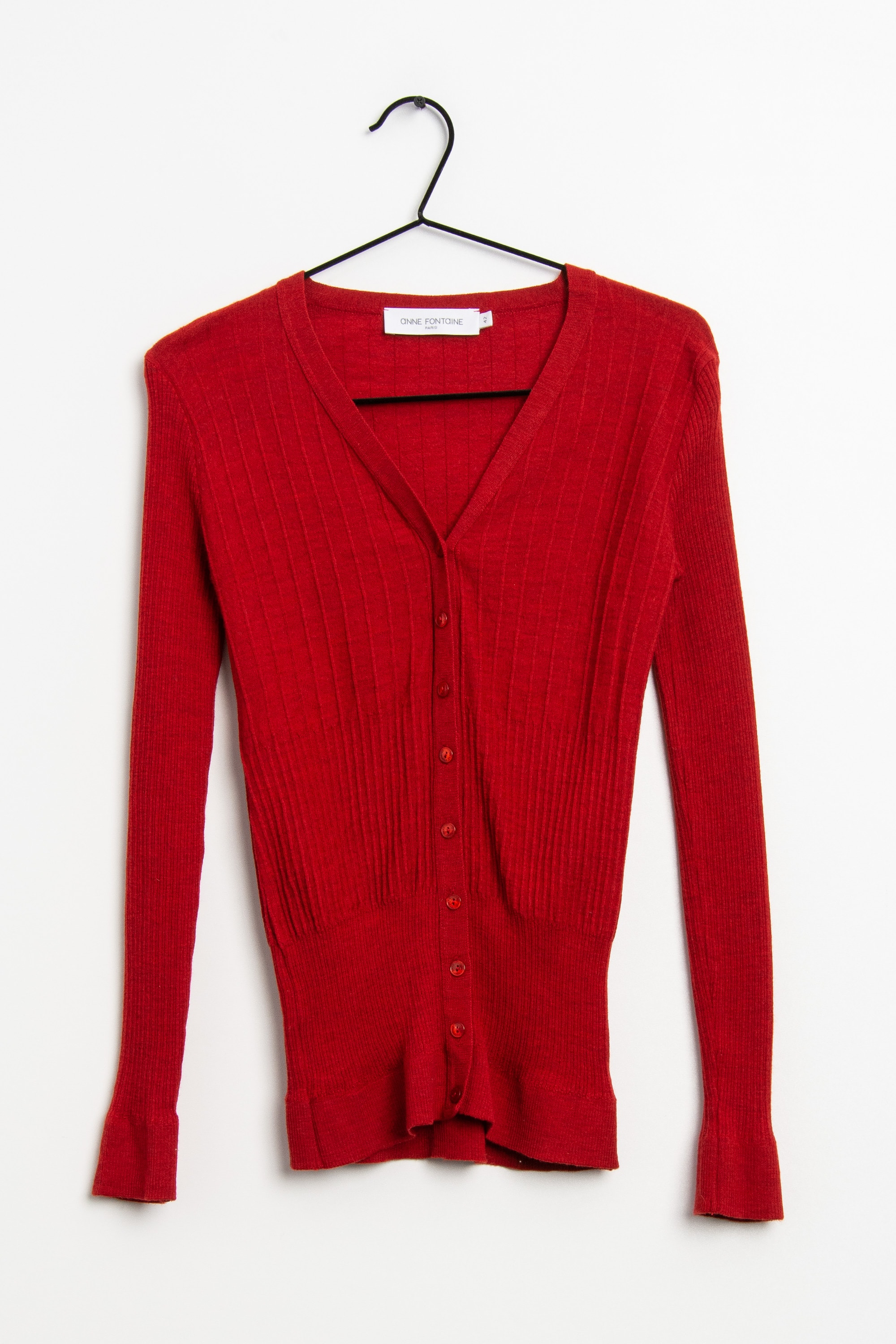 ANNE FONTAINE Strickjacke Rot Gr.42
