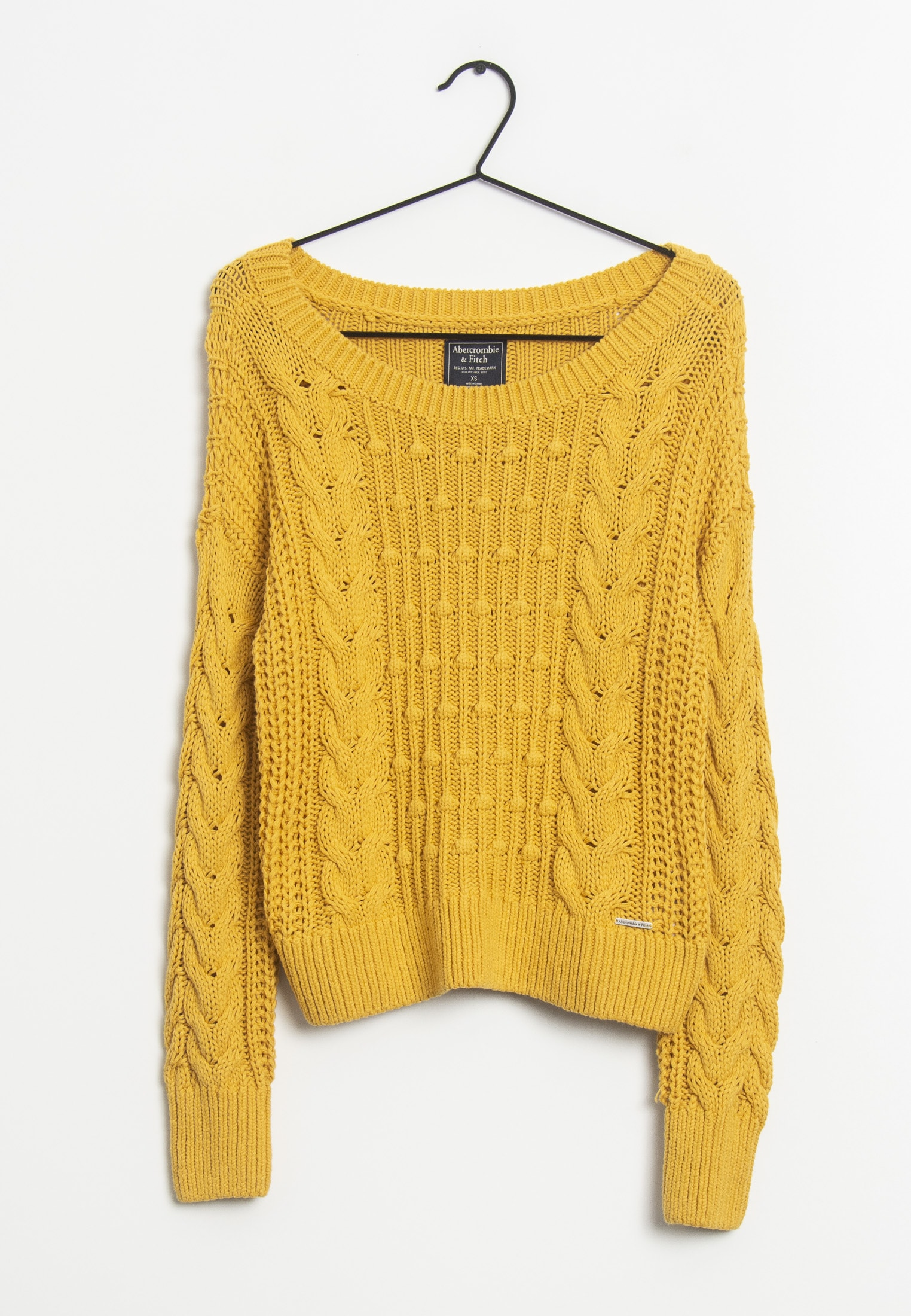 Abercrombie & Fitch Strickpullover Gelb Gr.XS