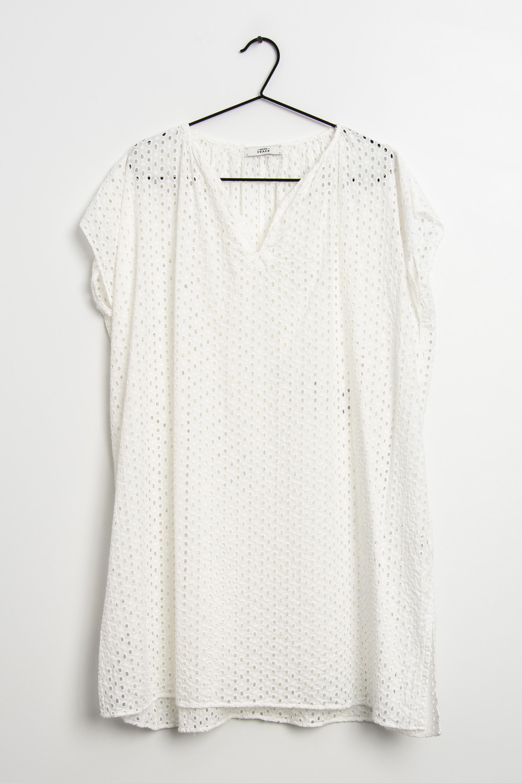 0039 Italy Kleid Weiß Gr.L