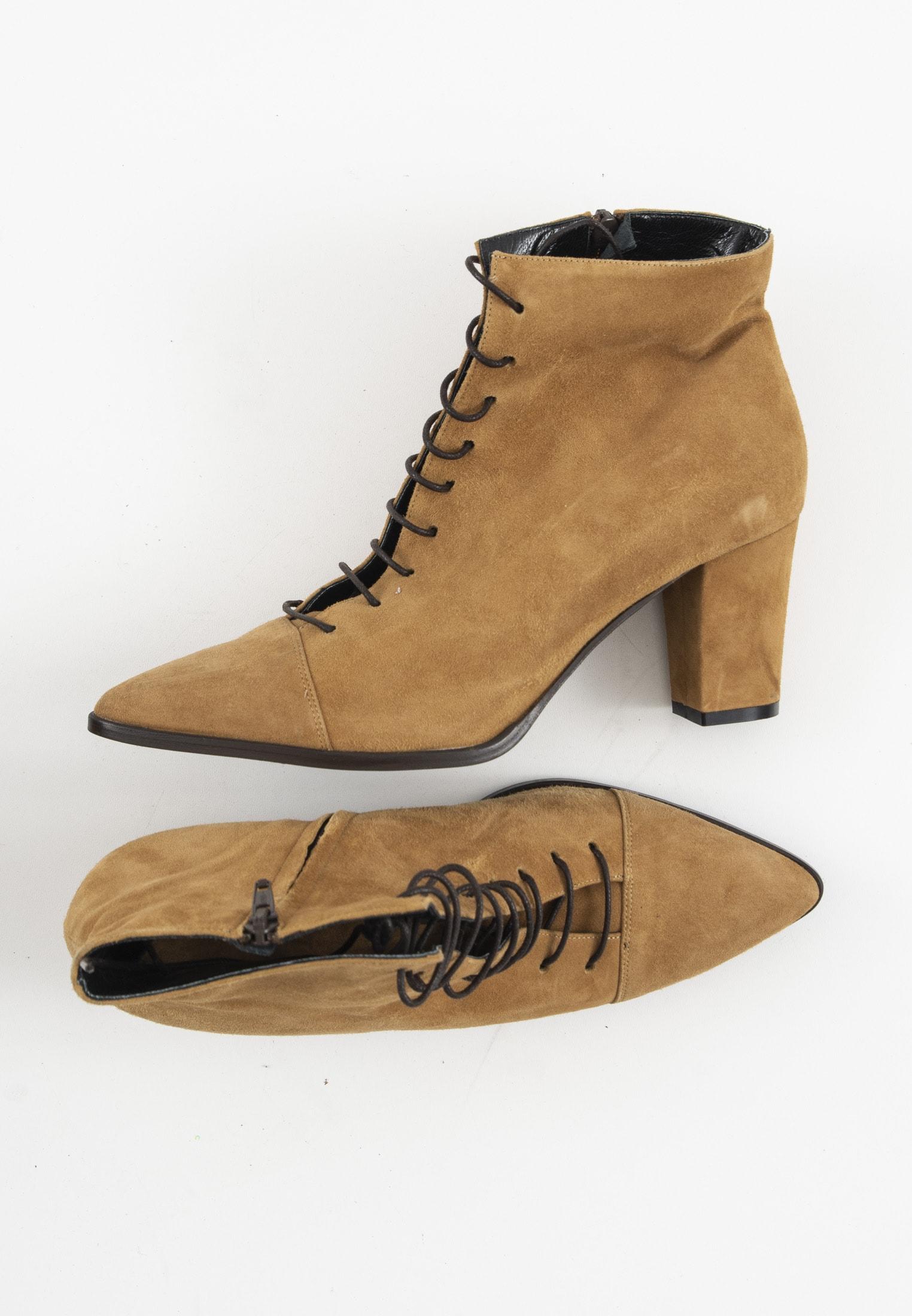 Alberto Zago Stiefel / Stiefelette / Boots Braun Gr.39.5
