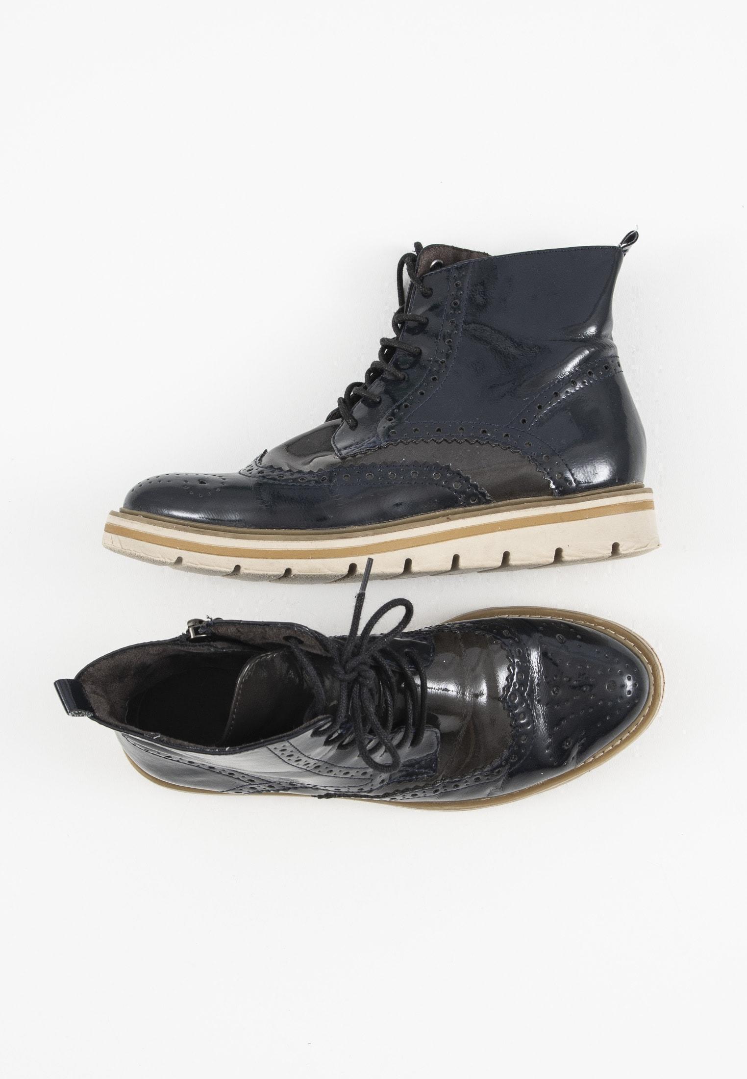 Tamaris Stiefel / Stiefelette / Boots Blau Gr.37