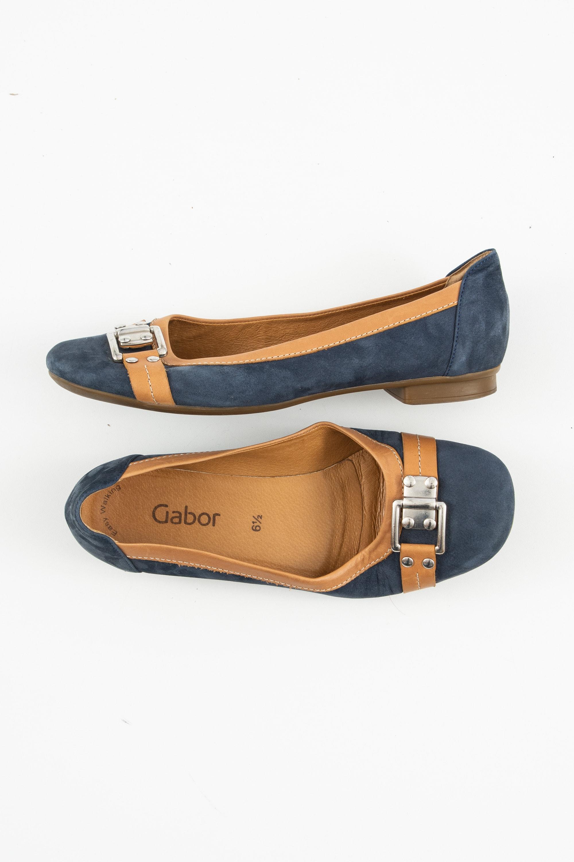 Gabor Halbschuh / Ballerina Blau Gr.40