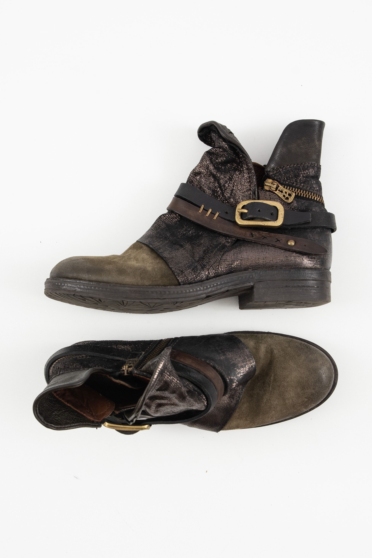 A.S.98 Stiefel / Stiefelette / Boots Grün Gr.38