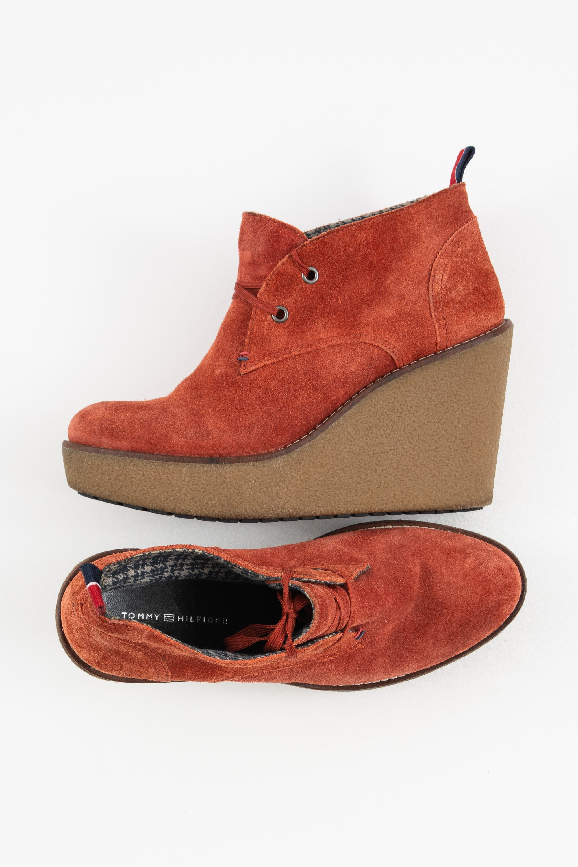 Tommy Hilfiger Stiefel / Stiefelette / Boots Rot Gr.37