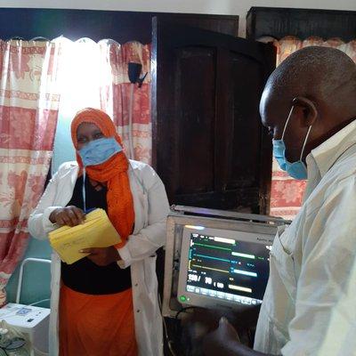 Arbeit in der Klinik - mit Monitoring