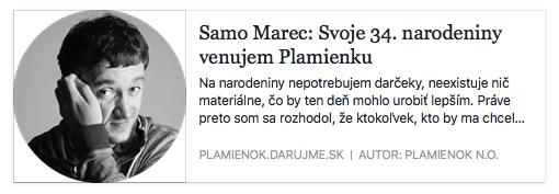 Narozeninová oslava Samuela Marca na Slovensku pro dětský hospic.