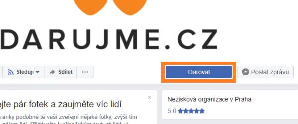 Už máte na facebooku darovací tlačítko?
