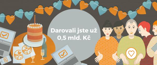 Darujme.cz slaví 10 let. Objem darů už překročil 0,5 mld. Kč