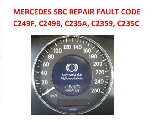 MERCEDES SBC BRAKE PUMP UNIT PROBLEM? REPAIR RESET SERVICE