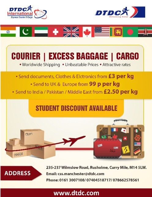 FROM £1 50 SEND PARCEL TO INDIA/PAKISTAN/EUROPE/UAE/USA N WORLDWIDE