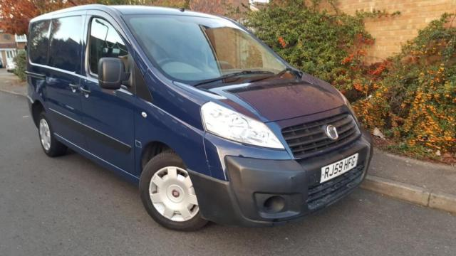 2010/59 Fiat Scudo Comf 90 M-Jet SWB 1.6 Low Mills 98K Years Mot Till:22nd Sep 2018 Ply Lined