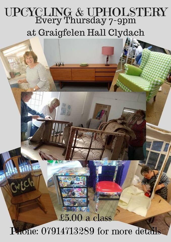 Upcycling Upholstery Class Clydach Swansea Sumra