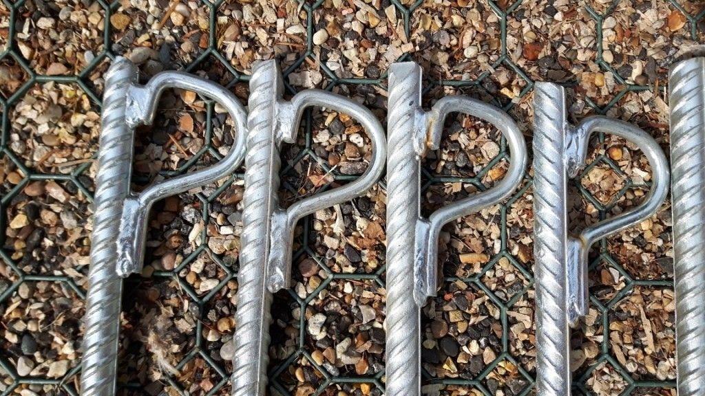 """9/"""" TENT PEGS STEEL METAL GROUND STAKES CAMPING GAZEBO TARPAULIN HOOKS"""