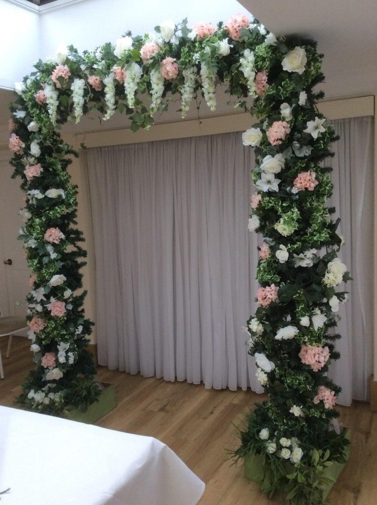 Artificial flower walls/back drops/artificial arches/wall of candles-image-1