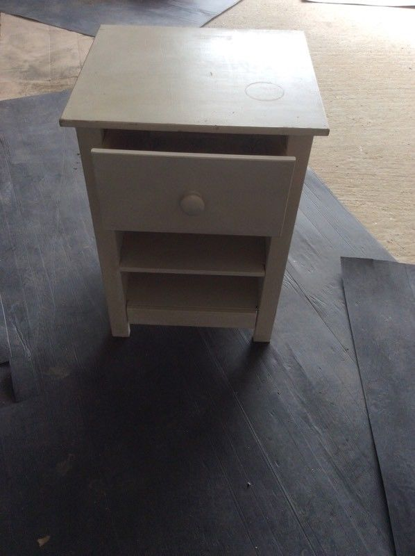 Painted pine bedside table-image-1