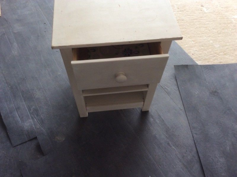 Painted pine bedside table-image-2