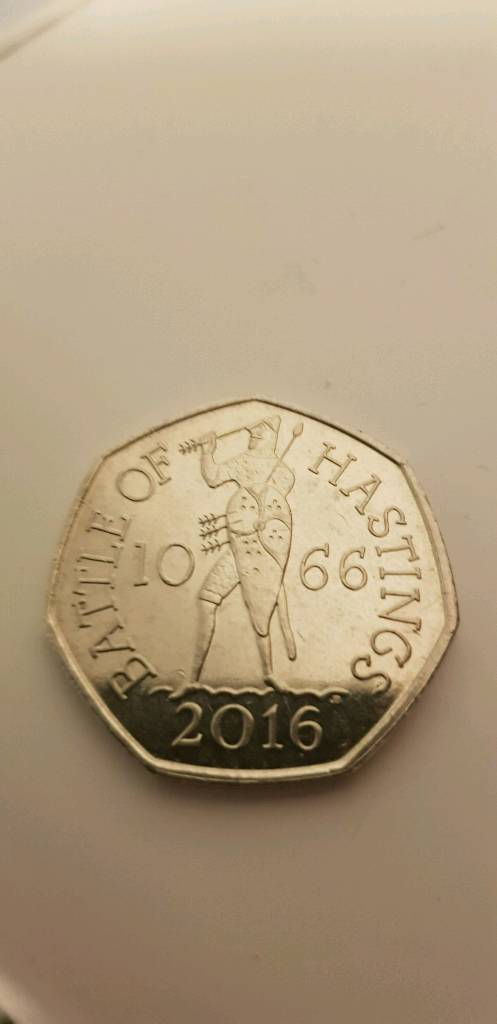 Battle of haistings rare 50p coin-image-0