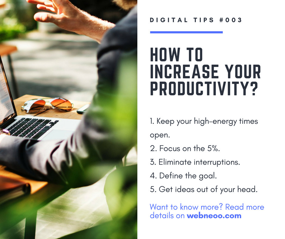 How to increase your productivity?