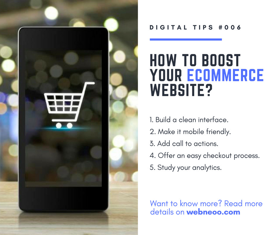 5 tips to Boost your e-commerce website