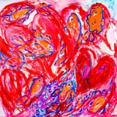Passion, Acryl op linnen, 100 x 100 cm.