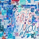 Een liefde lang, Gem. techniek op linnen, 100 x 100 cm.