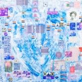 Hollands Glorie, Gem. techniek op linnen, 100 x 100 cm.