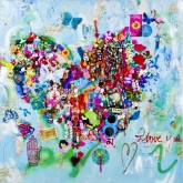 I Love You, Gem. techniek, 100 x 100 cm